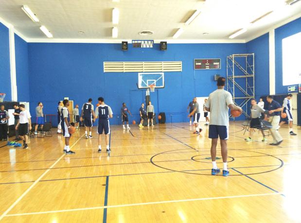 Jem community center hosts oklahoma thunder for Indoor basketball court installation