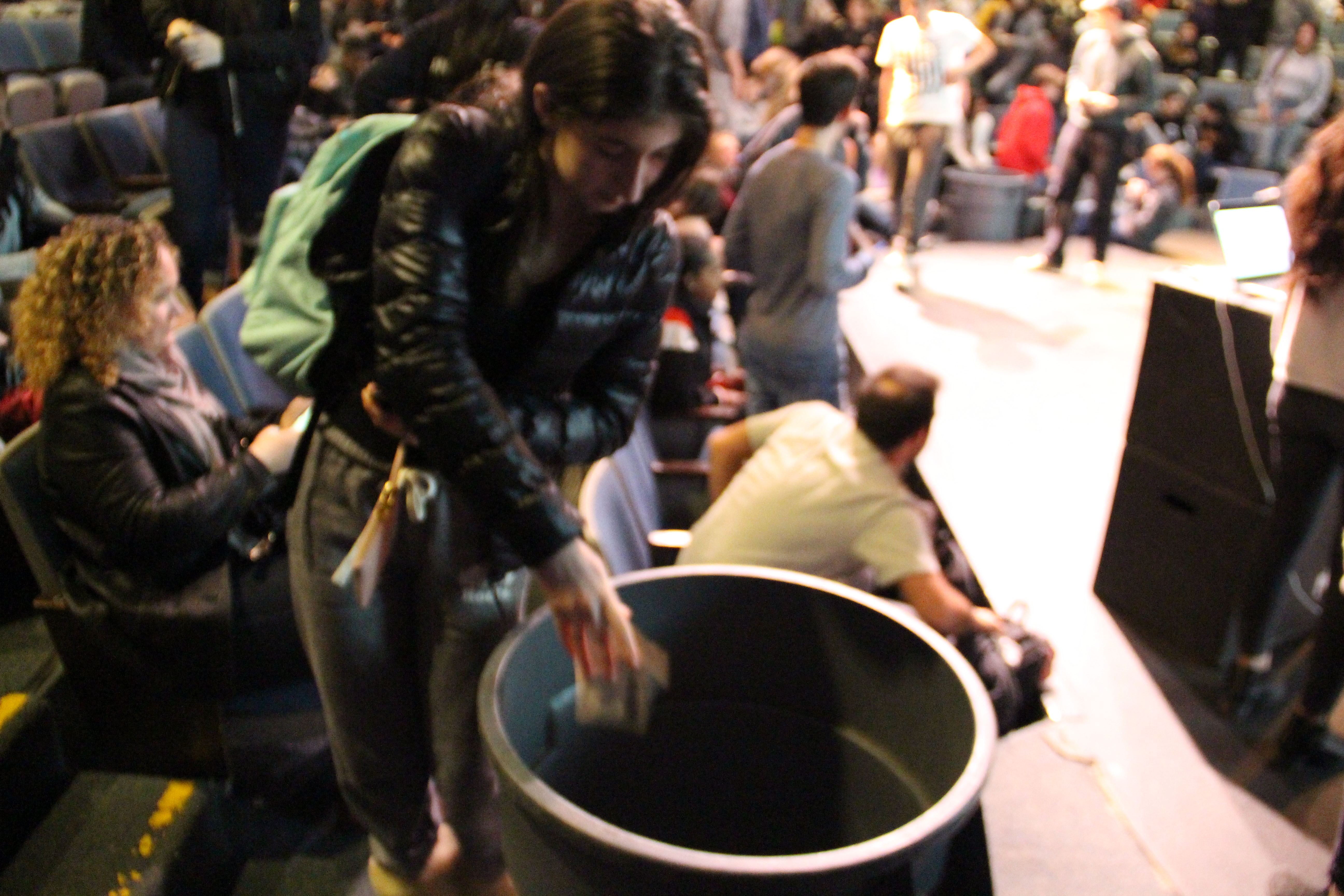 During the Miracle Minute, students were encouraged to donate as much as possible in 60 seconds. Photo by: GUY GINSBERG