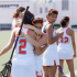 Girls varsity lacrosse defeats Santa Monica in last game